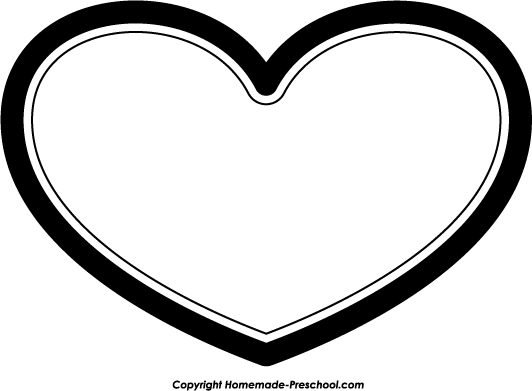 Heart  black and white heart clipart black and white 5