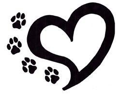 Heart paw print clip art