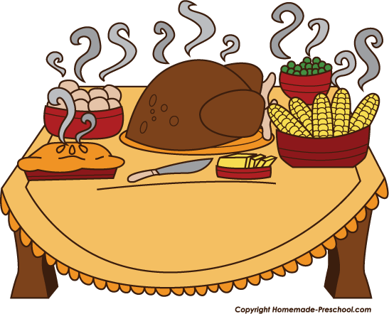 Holiday dinner clipart