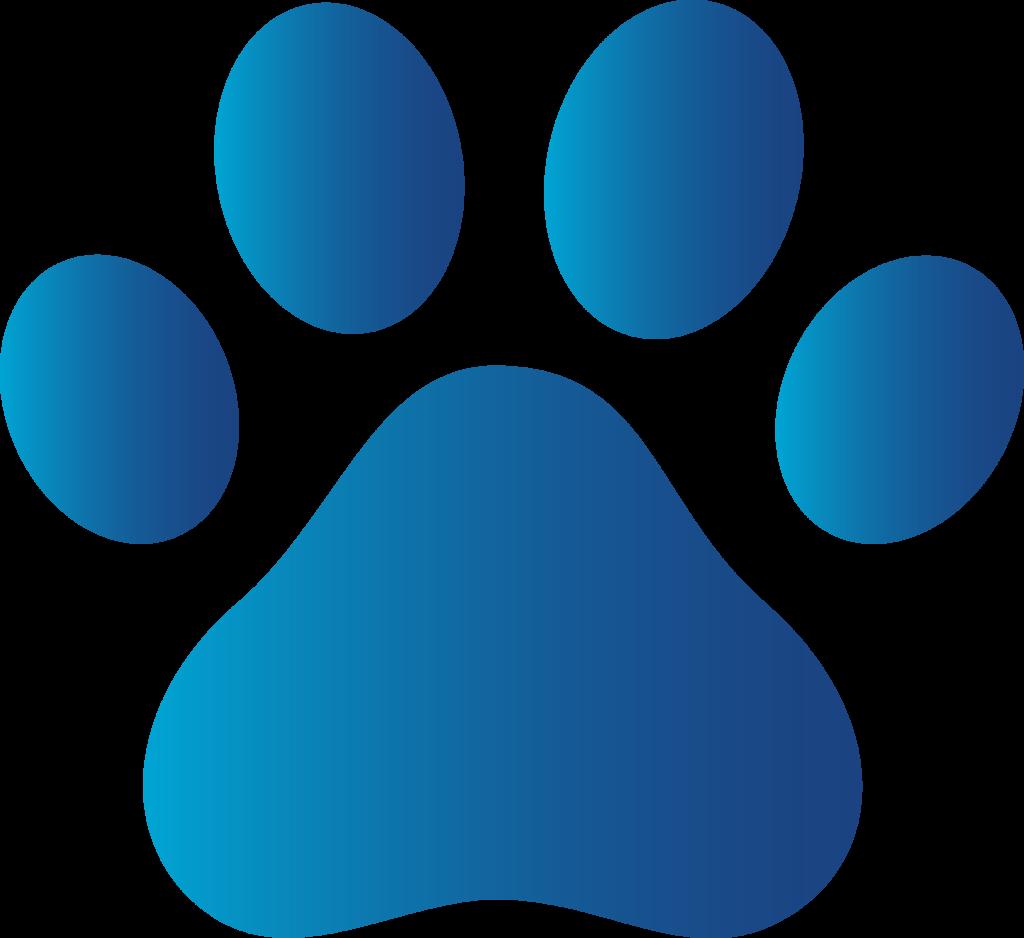 Husky paw print clipart
