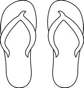 Image detail for flip flops line art free clip free clipart