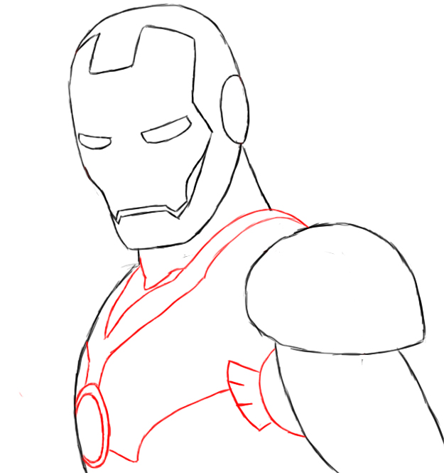 Iron man ironman head outline clipart