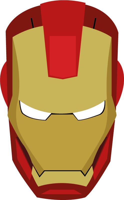 Iron man logo clipart 2