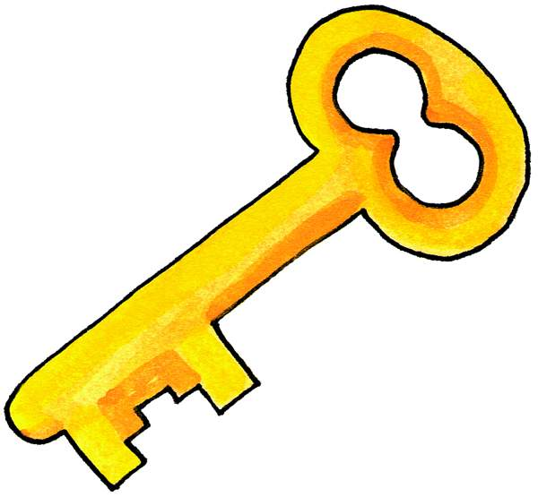 Key clip art black and white free clipart images