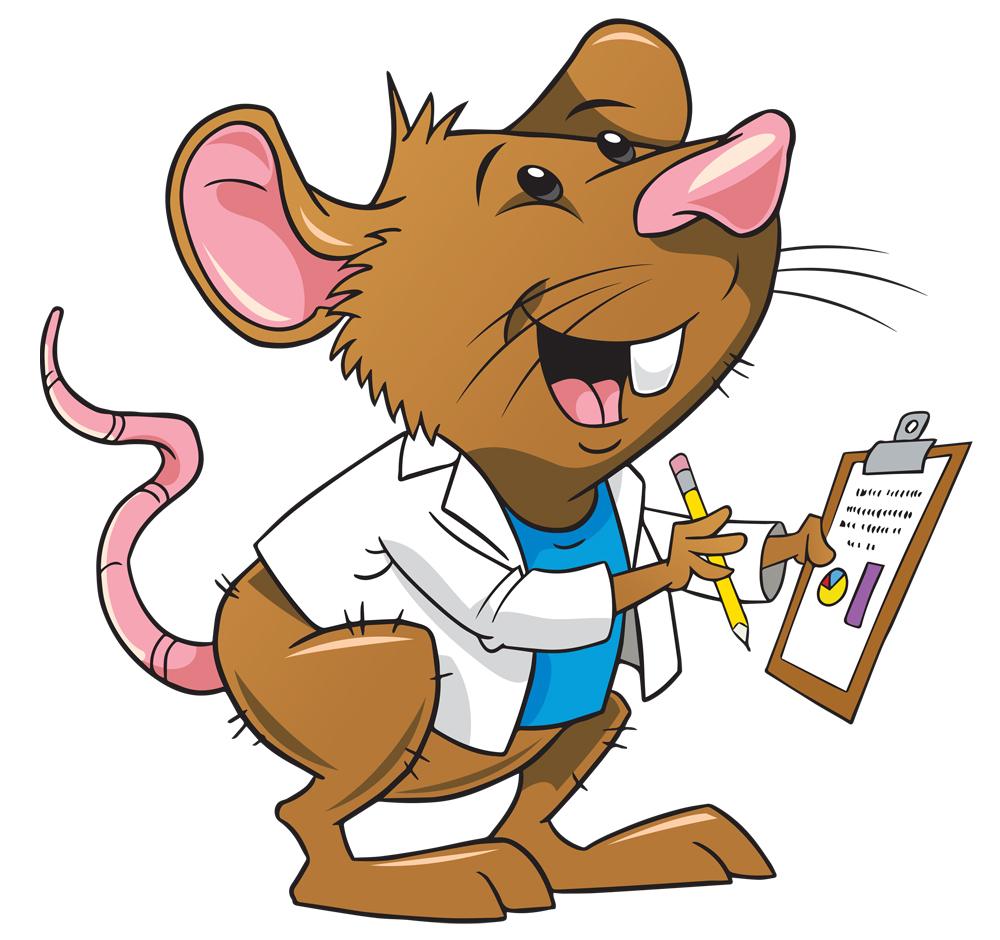Lab rats clipart 2