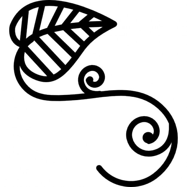 Leaf outline 2 clip art clipart