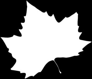 Leaf outline clip art at vector clip art