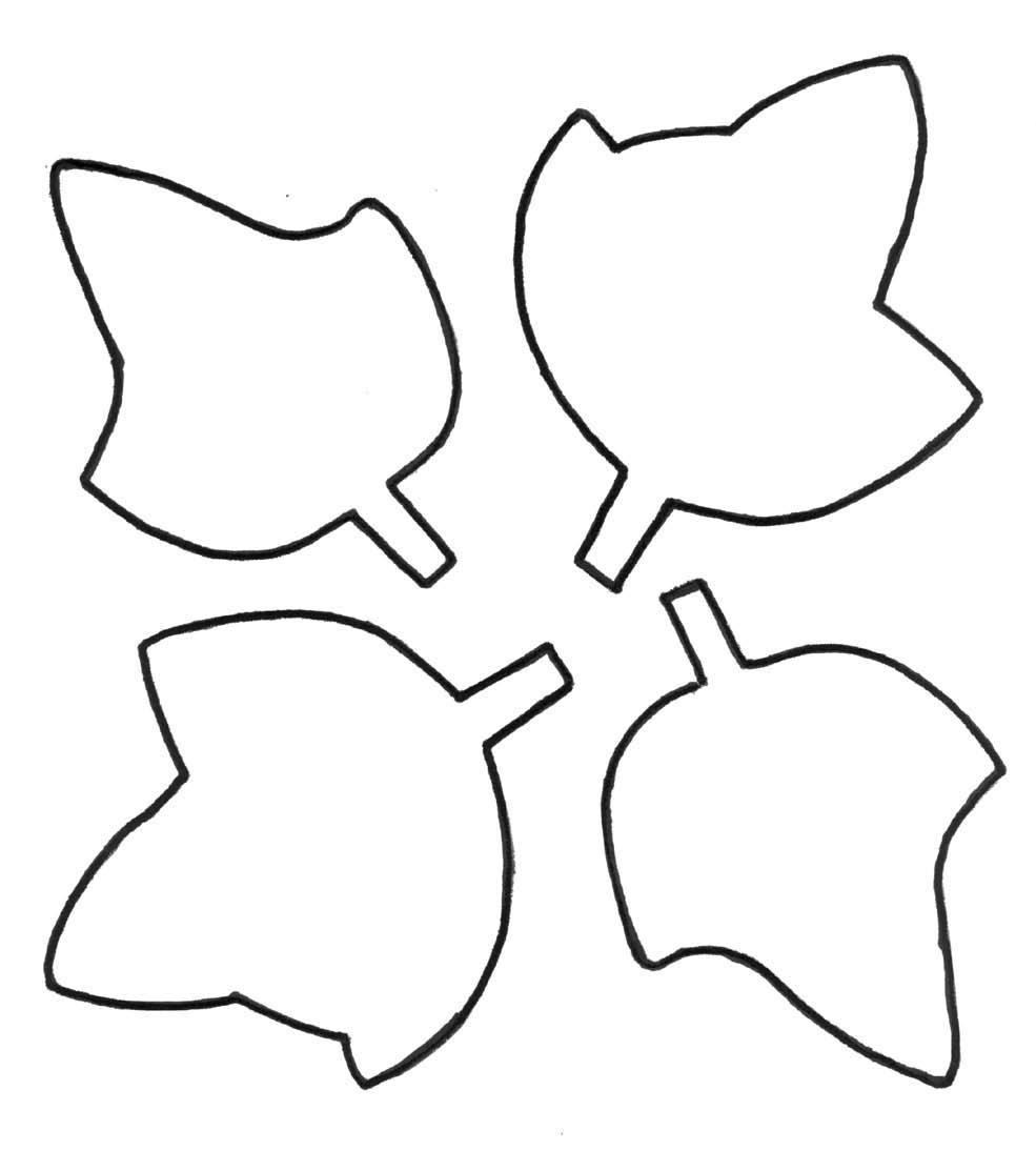 Leaf outline clipart 4