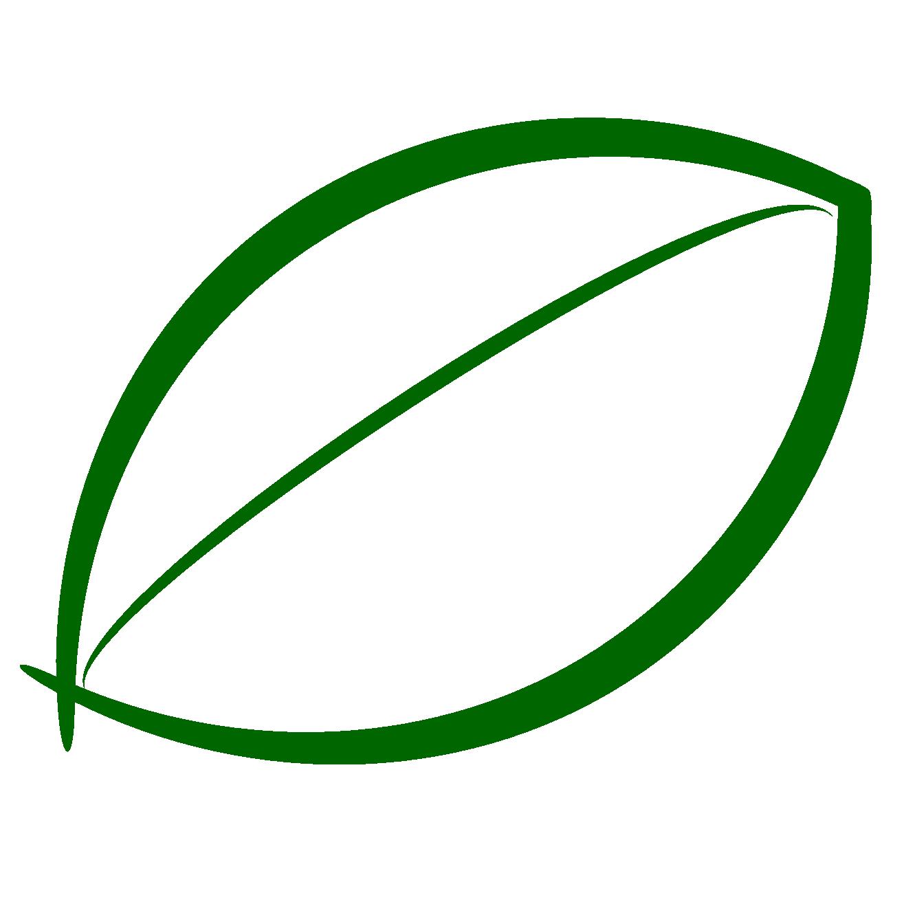 Leaf outline clipart clipart