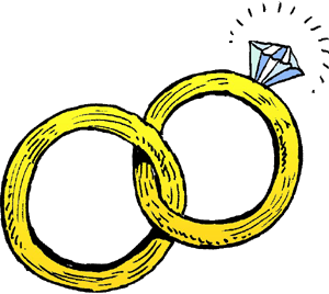Linked wedding rings clipart free images 7