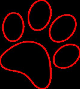 Lion paw print clipart 6