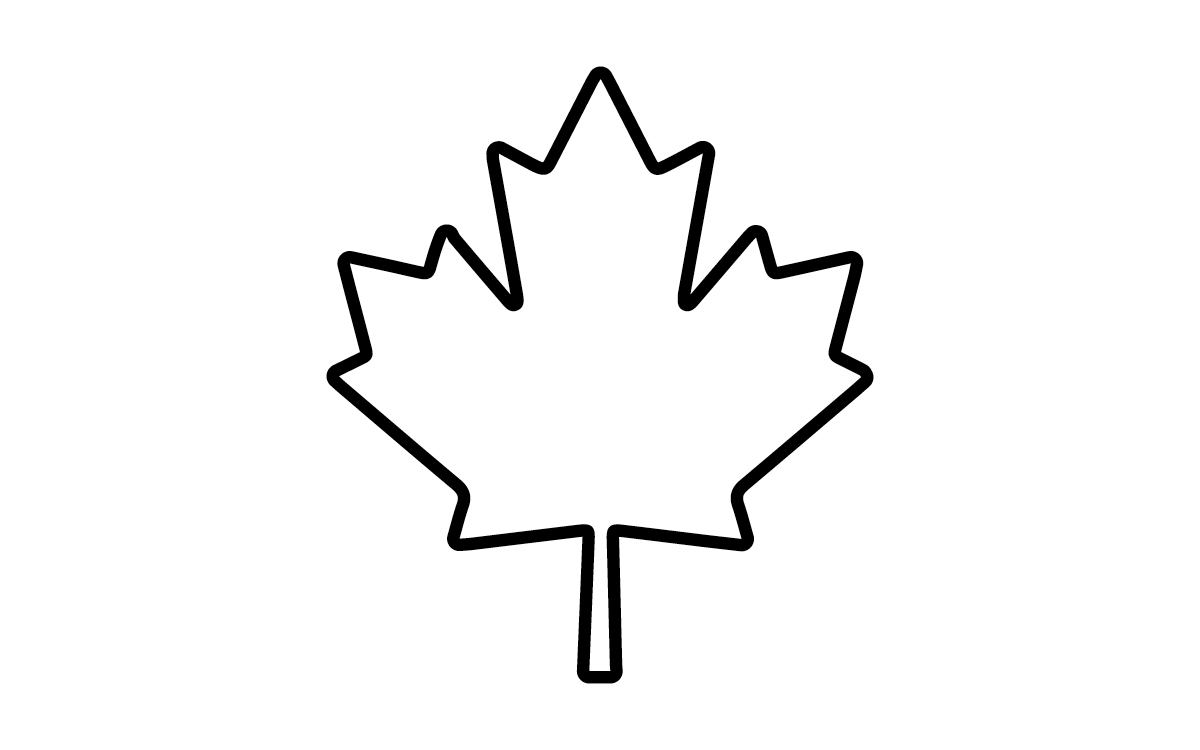 Maple leaf outline clipart 6