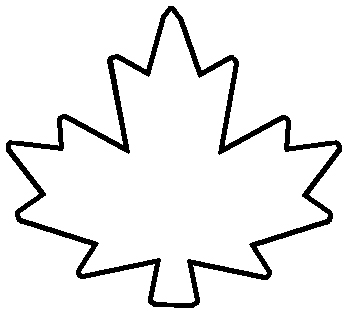 Maple leaf outline clipart 7