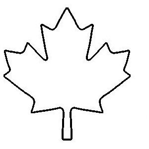 Maple leaf outline clipart 8