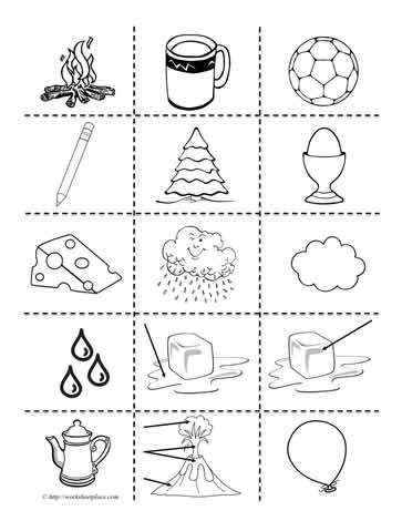 Matter clipartworksheets