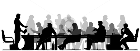 Meeting clip art black white free clipart images 4