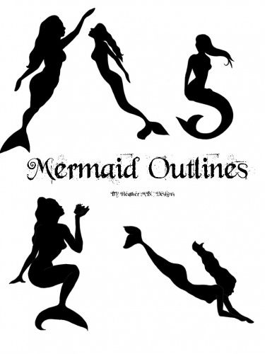 Mermaid  black and white mermaid clip art black and white outline clipart