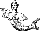 Mermaid  black and white mermaid clip art free vector clipart to use resource