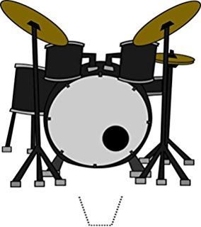 Mini snare drum with sticks home clipart