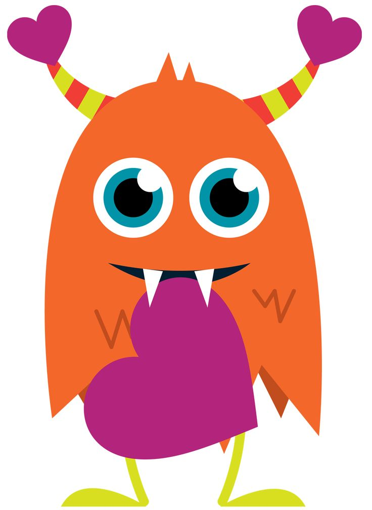 Monster clipart with spanish class logo 3