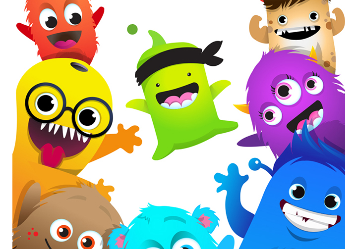 Monster clipart with spanish class logo 4
