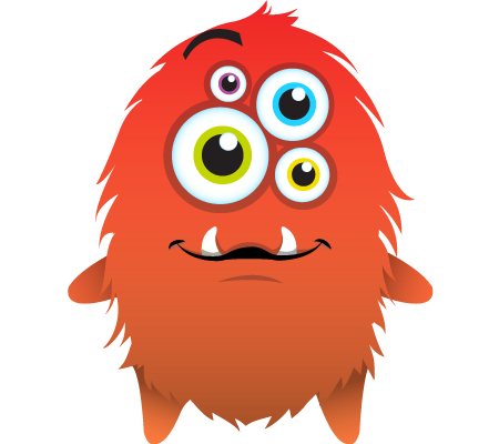 Monster clipart with spanish class logo 6