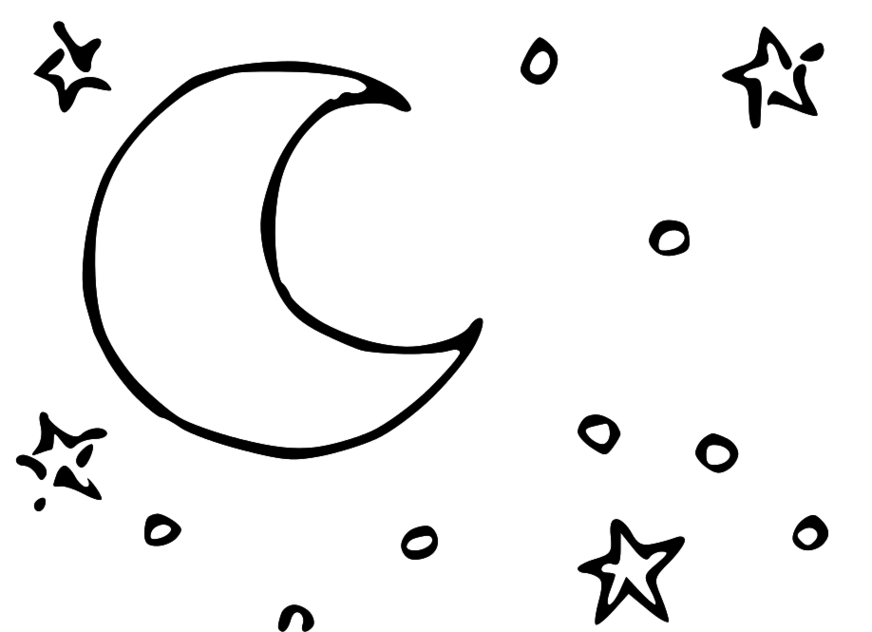 Moon and stars clipart free