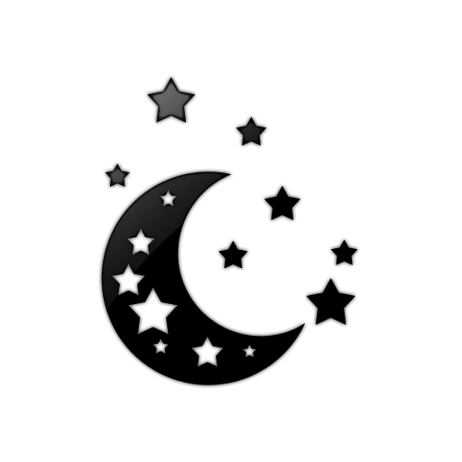 Moon black and white stars moon clipart clipart