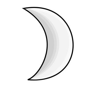 Moon clipart 4