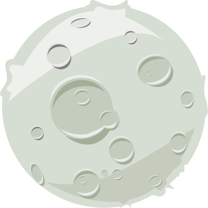 Moon clipart graphics of moons lunar phases 3