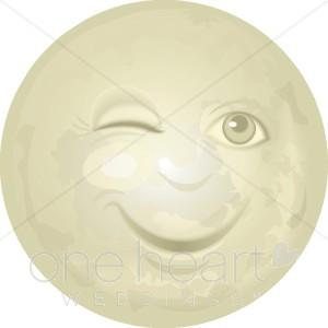 Moon face clipart
