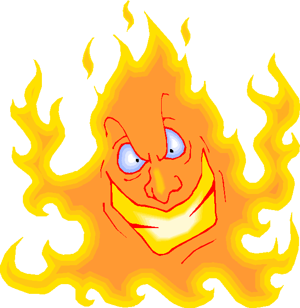 Mouth on fire clipart