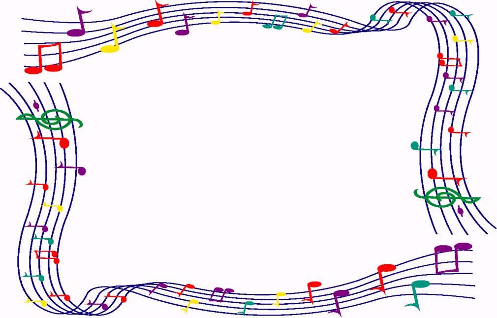 Music border clipart free