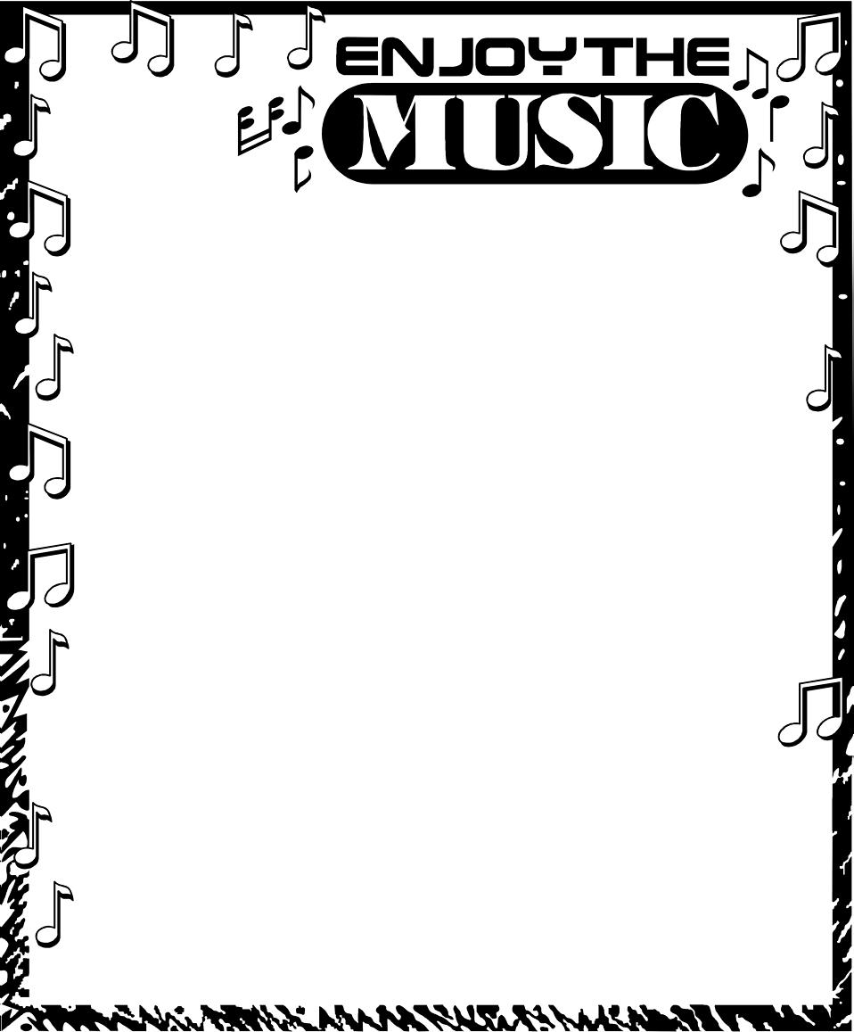 Music border free a blank music