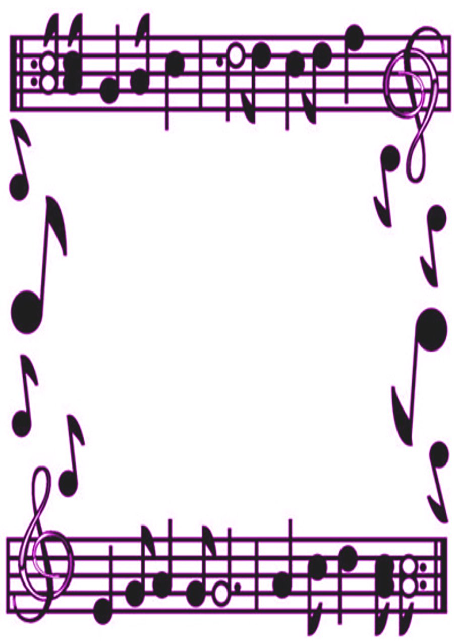 Music border images about borders on clip art music notes 2