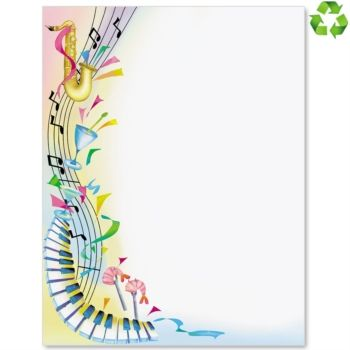 Music border music and fun border papers paper