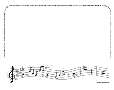 Music border music clipart black and white border 2