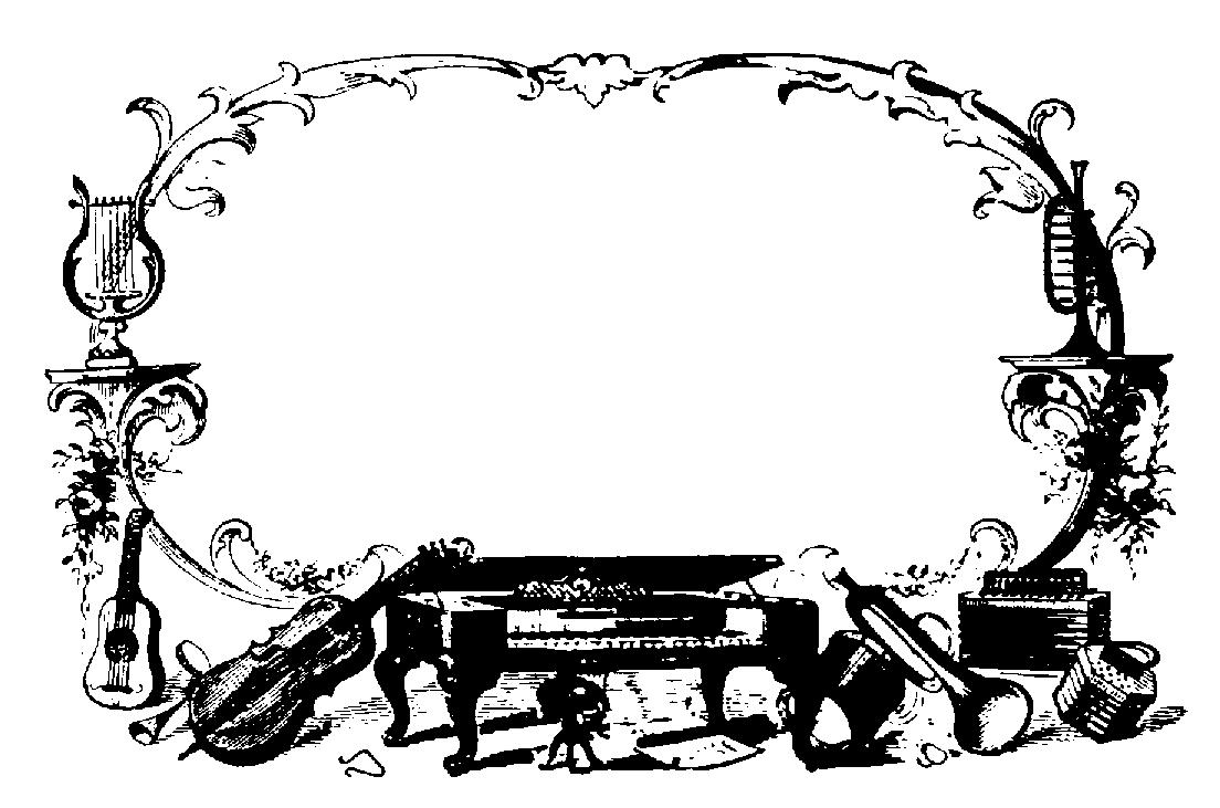 Music border music clipart black and white border