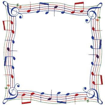 Music border music free borders clipart