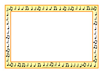 Music border music note border landscape clipart 2