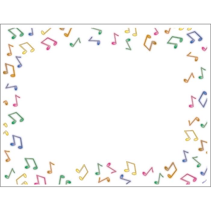 Music border music note border landscape clipart 3