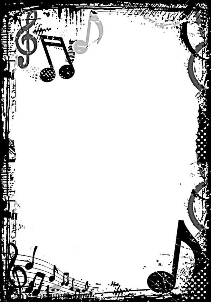 Music border music note border
