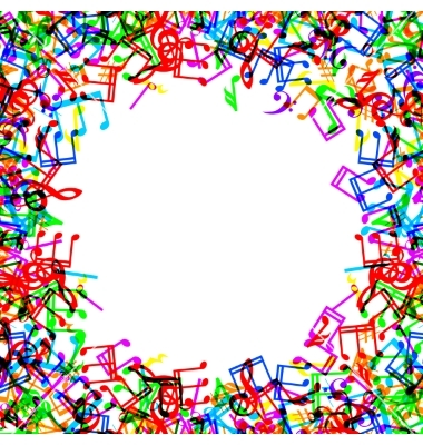 Music border music notes border frame vector by prikhnenko image 5