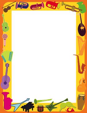 Music border musical instrument border