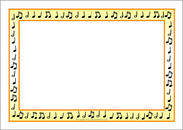 Music border musical notes a4 page borders sb2 sparkle 2