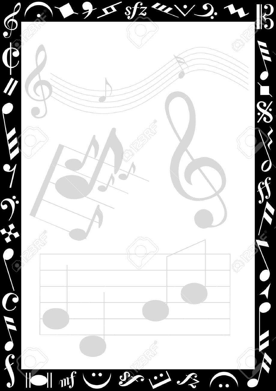 Music border transparent background music note border clipart