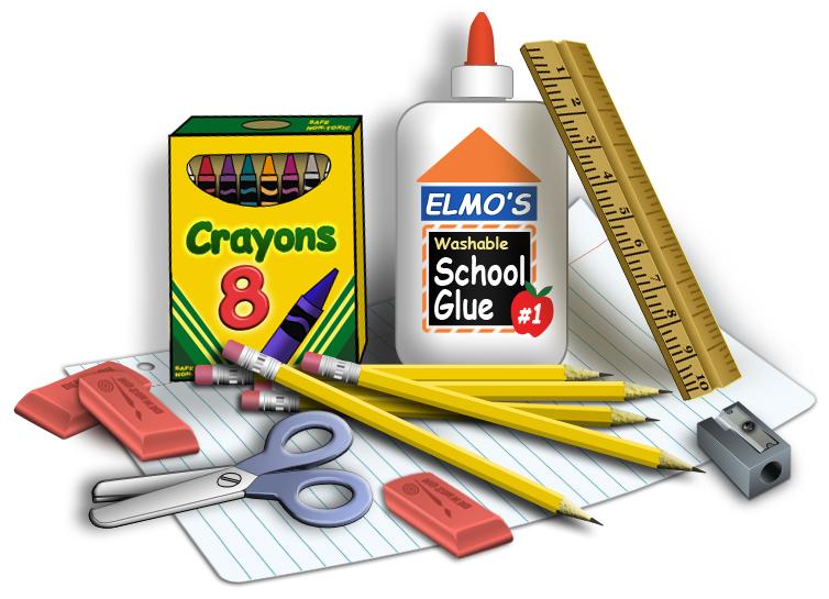 Needed school supplies clipart 2