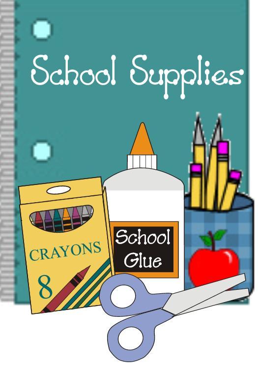 Needed school supplies clipart