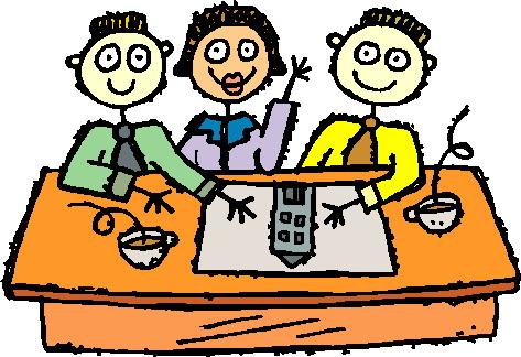 Office meeting clipart 3