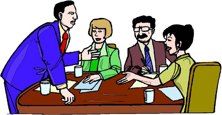 Office meeting clipart 5
